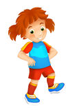 Cartoon child - activity - illustration for children Stock Photos