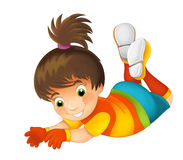 Cartoon child - activity - illustration for children Royalty Free Stock Photos