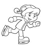 Cartoon child - activity - illustration for the children Stock Photography