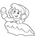 Cartoon child - activity - illustration for the children Stock Images