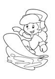 Cartoon child - activity - illustration for the children. Beautiful illustration of a cartoon child being active Stock Image