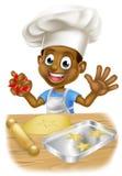 Cartoon Child Chef Baking Royalty Free Stock Image