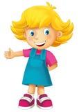 Cartoon child - happy girl Royalty Free Stock Photo