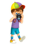 Cartoon child - illustration for the children Stock Image