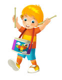Cartoon child - illustration for the children Stock Images