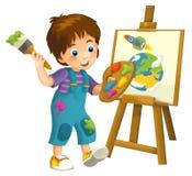 Cartoon child - illustration for the children Royalty Free Stock Photo