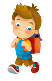 The cartoon child - illustration for the children Stock Photo