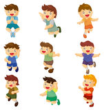Cartoon child jump icons Stock Photo