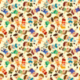 Cartoon child jump seamless pattern Stock Photography