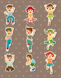 Cartoon child jump stickers Stock Image