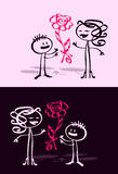 Cartoon child & mum Stock Photos