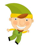 Cartoon child in outfit - fairy tale dwarf Stock Photos