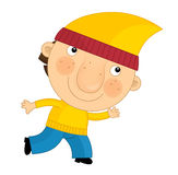 Cartoon child in outfit - fairy tale dwarf Royalty Free Stock Photo