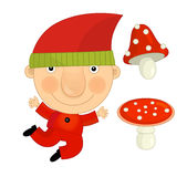 Cartoon child in outfit - fairy tale dwarf Stock Photo