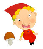 Cartoon child in outfit - fairy tale dwarf Royalty Free Stock Images