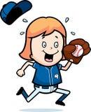 Cartoon Child Softball Stock Photo