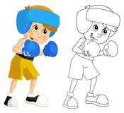 Cartoon child training - box - isolated Stock Photos
