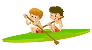 Cartoon child training - illustration for the children Royalty Free Stock Image