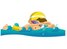 Cartoon child training - illustration for the children Stock Photos