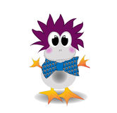 Cartoon childish duck Stock Images