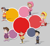 Cartoon children Stock Image