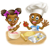 Cartoon Children Bakers Stock Photography