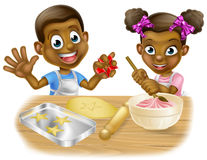Cartoon Children Chefs Cooking Stock Images