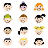 Cartoon children face Royalty Free Stock Photo
