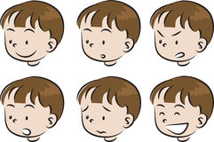 Cartoon children face Stock Photos