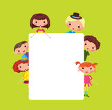 Cartoon children frame Royalty Free Stock Image