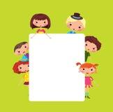 Cartoon children frame royalty free illustration