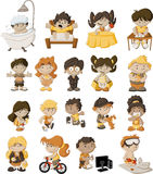 Cartoon children Royalty Free Stock Photo