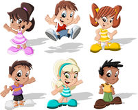 Cartoon children Stock Photo