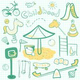 Cartoon children playground icon Stock Image