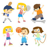 Cartoon children playing Royalty Free Stock Images