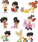 Cartoon children playing Stock Photography