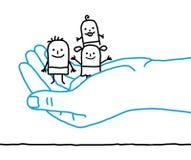Cartoon children - protection Stock Photography