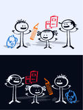Cartoon children & school Royalty Free Stock Photography