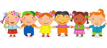 Cartoon children Royalty Free Stock Photos