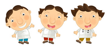 Cartoon children standing happy and funny -  Stock Photos