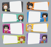 Cartoon children talking Royalty Free Stock Images