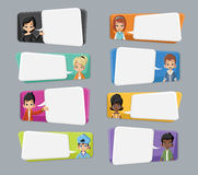 Cartoon children talking Royalty Free Stock Photo