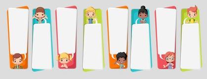 Cartoon children talking Royalty Free Stock Image