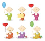 Cartoon children with toys Stock Image