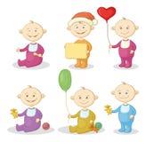 Cartoon children with toys Stock Photo