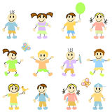 Cartoon children vector Stock Photo