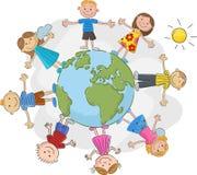 Cartoon children world over Stock Photos