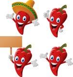 Cartoon chili collection set Stock Photos