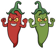 Cartoon chili peppers Royalty Free Stock Photos