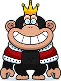 Cartoon Chimp King Royalty Free Stock Photo